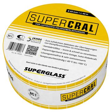 Superglass Supercral Klebeband 60 mm 40 m Gelb