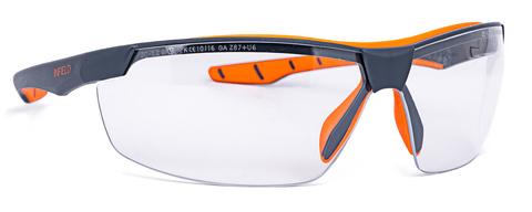 Intra Brille Infield Flexor Plus 9021-155 Gestell grau/orange Farblos