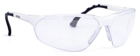 Intra Schutzbrille Terminator Small 9388-155 Gestell weiß, PC AF UV Klar