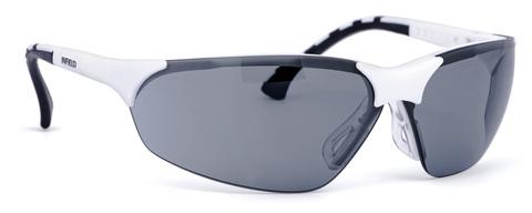 Intra Brille Terminator Outdoor Small Gestell weiß, PC SP AS UV Grau