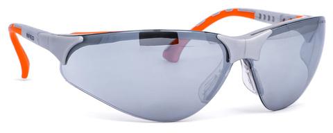 Intra Brille Terminator Outdoor Plus Gestell silber/orange Silvermirror