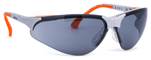 Intra Brille Terminator Outdoor Outdoor Plus 9396-625 Gestell silber/orange Grau