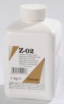 Chemet Lötwasser Z-02 1 kg Flasche für Kupfer