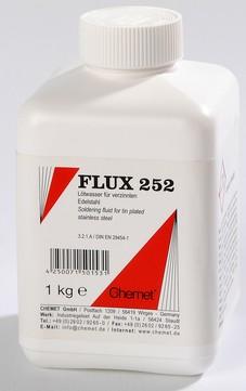 Chemet Lötwasser Flux 252 1 kg Flasche, für beschichteten Edelstahl