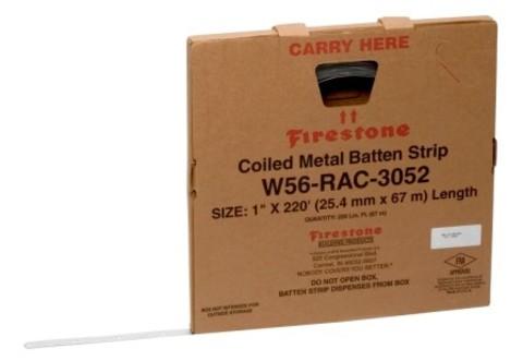 Firestone Coiled Metal Batten Strips Befestigerschiene 2,54 cm x 67,06 m