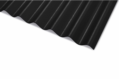 Laukien Cemfort Profil 5 Wellplatte 2500 mm vollkantig Schwarz