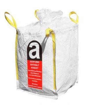 Hauser Big Bag 1000 kg 120x70x110 mm Berliner Welle mit Aufdruck Asbest