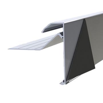 DTB Flachdach Abschlussprofil 100mm 5,0m Galant mit Folie blank Aluminium