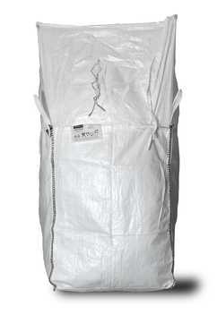 ASUP Big Bag unbeschriftet geschlossener Boden 90x90x110 cm Weiß