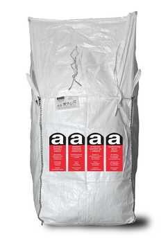 ASUP Big Bag beschriftet mit Aufdruck 90x90x110 cm Aufdruck Asbest 1000 kg Weiß