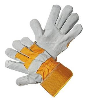 Intra Schutzhandschuh Gr.10 Eider Light Rindspaltleder Leder natur/gelb