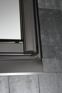 Roto Eindeckrahmen ESR R8 WD 1x1 Dacheindeckung Pfannen/Ziegel ZIE 07/11 Designo Standard-Renovierung 8 Aluminium