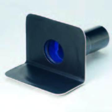 Grumbach Attika Notüberlauf wärmegedämmt 100 mm 55 cm Thermoplan silbergrau
