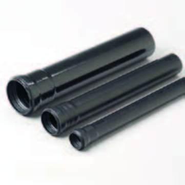 GRU Rohr PVC 70 55cm SCHW