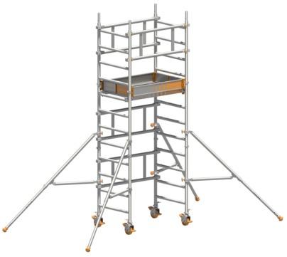 Layher Steigtechnik Fahrgerüst SoloTower 2,15m Arbeitshöhe 4,15m Aluminium