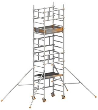 Layher Steigtechnik Fahrgerüst SoloTower 3,15m Arbeitshöhe 5,15m Aluminium