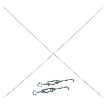 Gebrüder Schulte Diagonalstrebe 750/1000 für Stecksystem-Regal Verzinkt