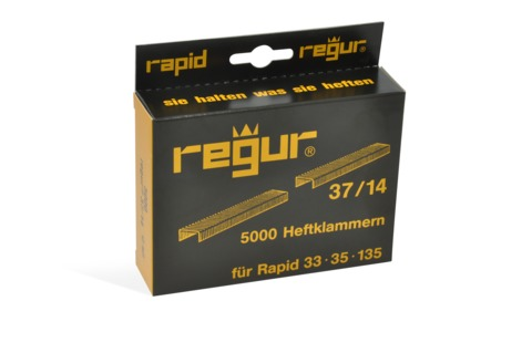 Dr. Gold Heftklammern Regur 37/14mm 5000 Stück Verzinkt