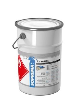 SOPREMA ALSAN 075 Faserspachtel 10,0 kg RAL 7032S Kieselgrau