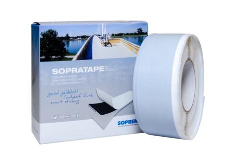 SOPREMA Sopratape 2 Klebeband 25 m doppellagig Weiß