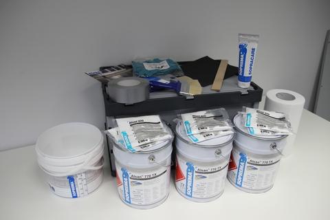 SOPREMA Alsan PMMA Dichtbox RAL 7012 Basaltgrau