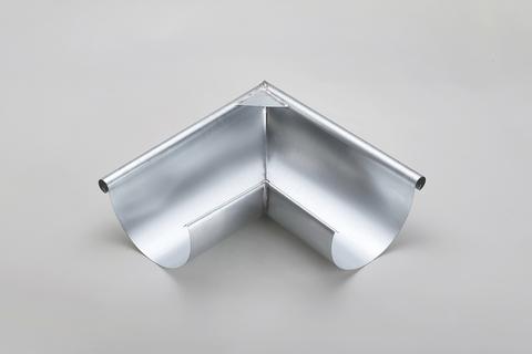 Frank Bauelemente 5-teilige Rinnenaußenwinkel 30 mm halbrund Edelstahl Uginox