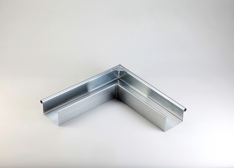 Frank Bauelemente 6-teilige Rinnenaußenwinkel 50 mm Kasten Edelstahl Uginox