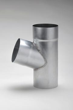 Frank Bauelemente 6-teilige Fallrohrabzweig 72° 100/ 60 mm Titanzink