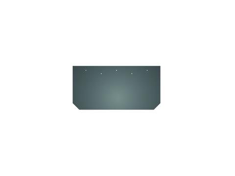 Eternit Dachplatte 40x20 cm First- und Gratplatte Struktur mit gestutzten Ecken gelocht Blauschwarz