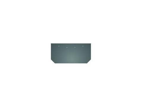 Eternit Dachplatte 30x15 cm First- und Gratplatte Struktur mit gestutzten Ecken gelocht Blauschwarz