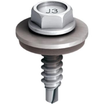 EJOT Bohrschraube JT3-2H 4,8x19mm 100 Stück im Paket Super-SAPHIR mit Dichtscheibe E14 Edelstahl 1.4301