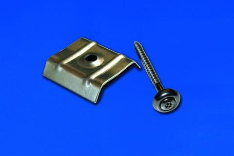 Scobalitwerk Kalottenset Trapez 20 Stück für Profil 76/18 mm Spund und 70/18 mm +V2A Schraube Edelstahl