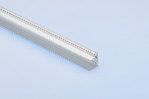 Dolle U-Profil 0,98 m für 16 mm Stegplatten mit Tropfnase Alu