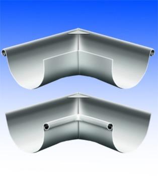 Biermann&Heuer 10-teiliger Rinneninnenwinkel rund 0,65mm gelötet 90 Grad 500mm Zink