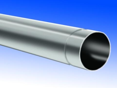 Biermann&Heuer 7-teilige Fallrohr rund 0,80 mm 2 m stumpfgeschweißt Titanzink