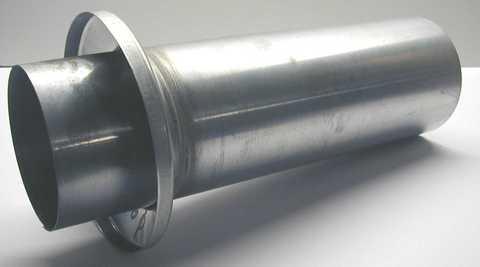 Biermann&Heuer 8-teilige Rohrschiebestück 116 mm mit Standrohrkappe ohne Muffe Titanzink