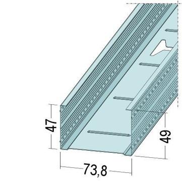 PROTEKTORWERK Profil maximal CW 73,8 mm 250 2,50 m Verzinkt