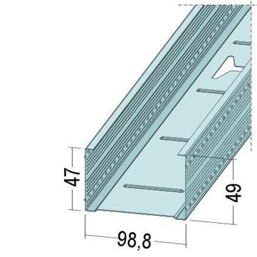 PROTEKTORWERK Profil max. CW 98,8/275 mm 2,75 m Verzinkt