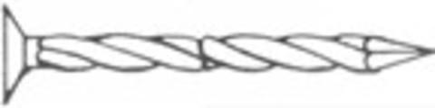 NSC Schraubnagel 3,1x 55 mm 148 500St/Pak Gewindeschaft Senkkopf Edelstahl V2A