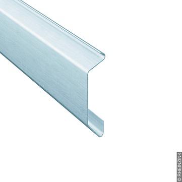 RHEINZINK Kappleiste 89/0,70mm mit Falz, elastische Abdeckung Classic walzblank