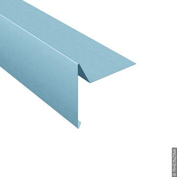 RHEINZINK Windbordleiste 280/0,7 mm 3 m glatt prePatina Breite 100 mm C=50 mm Titanzink prePATINA blaugrau