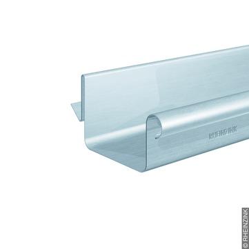 RHEINZINK 10-teilige Balkonsteckrinne 70x300mm Kasten Balkonsteckrinne Classic walzblank