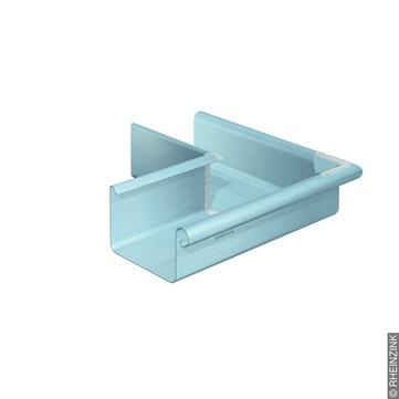 RHEINZINK 10-teilig Rinnenaußenwinkel Kasten 0,70/300 mm gelötet Titanzink prePATINA blaugrau