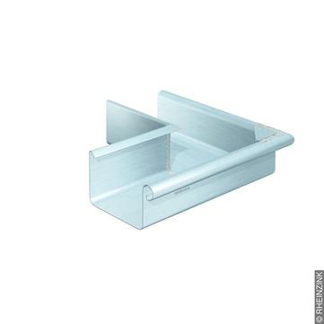 RHEINZINK 10-teiliger Rinnenaußenwinkel Kasten 0,65/300mm gelötet Classic walzblank