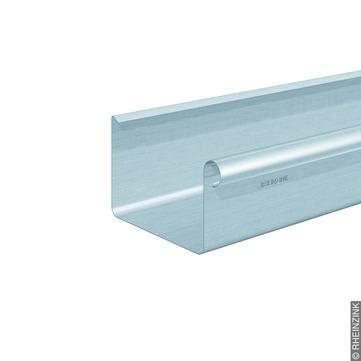 RHEINZINK 10-teilig Dachrinne Kasten 0,65 mm 3,0 m Titanzink prePATINA walzblank