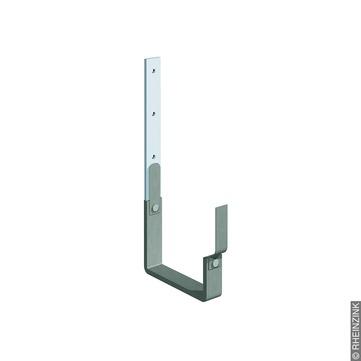 RHEINZINK 6-teilige Rinnenhalter Kasten 2-Feder kurz 25x6 mm ummantelt Titanzink prePATINA schiefergrau