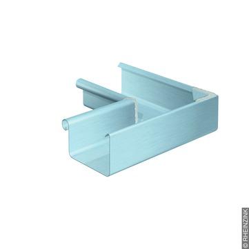 RHEINZINK 6-teilige Rinneninnenwinkel Kasten 0,70/300 mm gelötet Titanzink prePATINA blaugrau