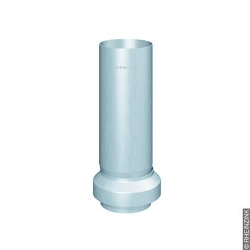 RHEINZINK 6-teilige Standrohr Reviso mit Standrohrkappe 100 mm 100/116 mm Titanzink prePATINA walzblank