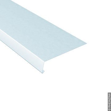 RHEINZINK Traufstreifen 250/0,70 mm 3 m glatt 105 Grad B=80 mm Titanzink prePATINA walzblank