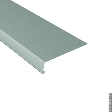 RHEINZINK Traufstreifen 250/0,70 mm 3 m glatt 105 Grad Titanzink prePATINA schiefergrau